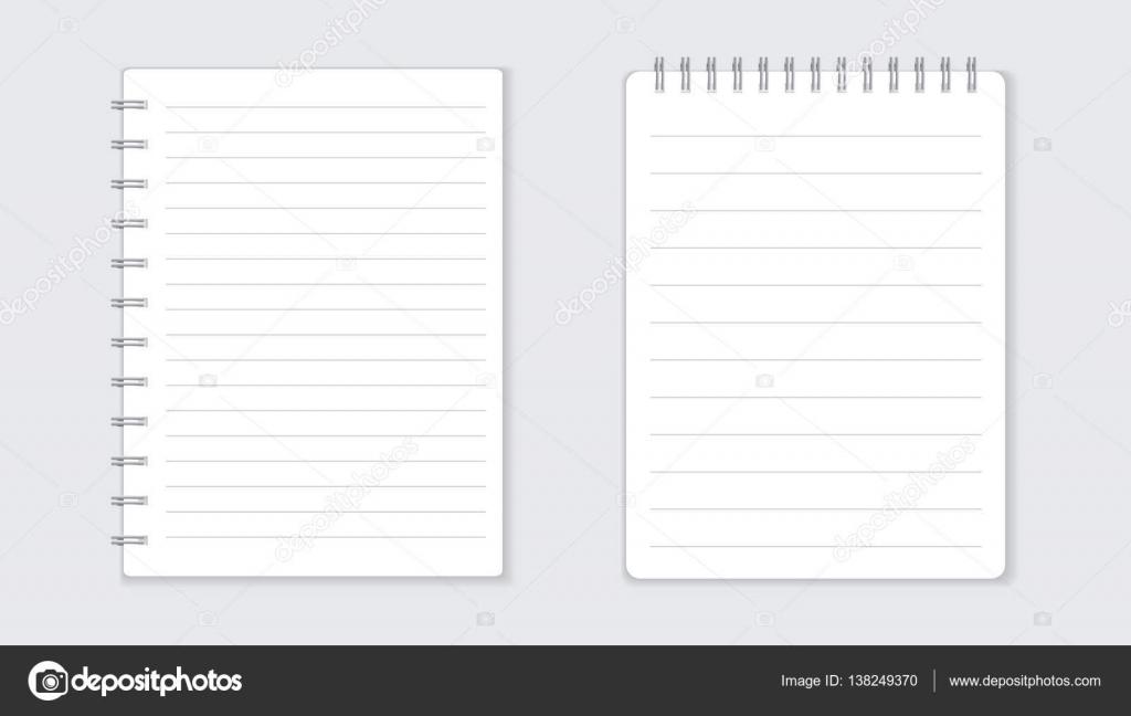 スパイラルと現実的なテンプレート メモ帳 ブランク カバー デザイン
