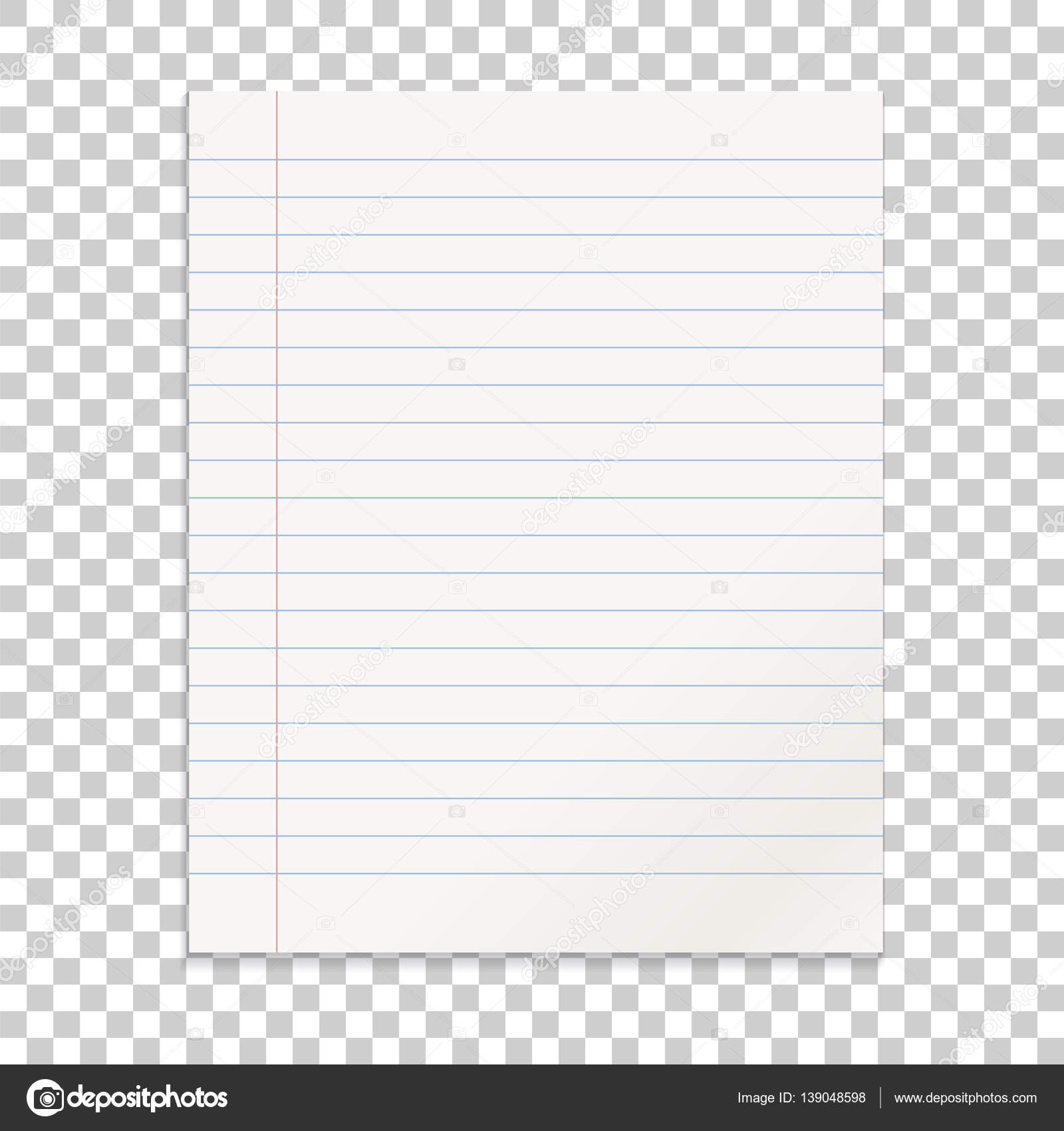Realistische Linie Papier-Schuldbrief auf isolierte Hintergrund ...