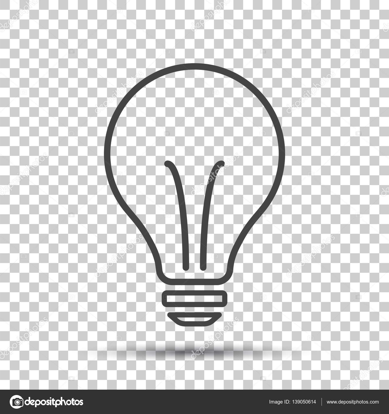Halogen-Glühlampe-Symbol. Glühbirne-Zeichen. Strom und Idee Symbol ...