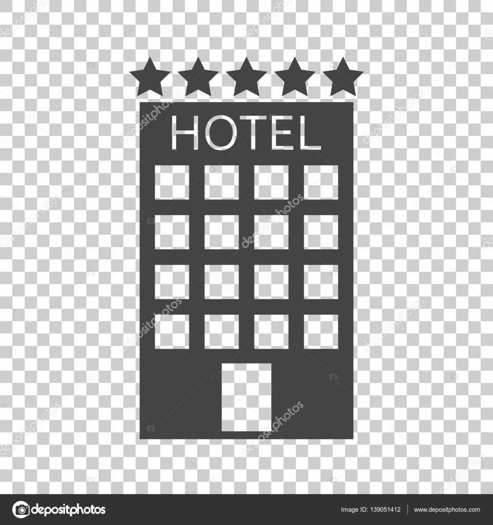 Icona di hotel su priorit bassa isolata semplice piatto for Sito web per la progettazione di mobili