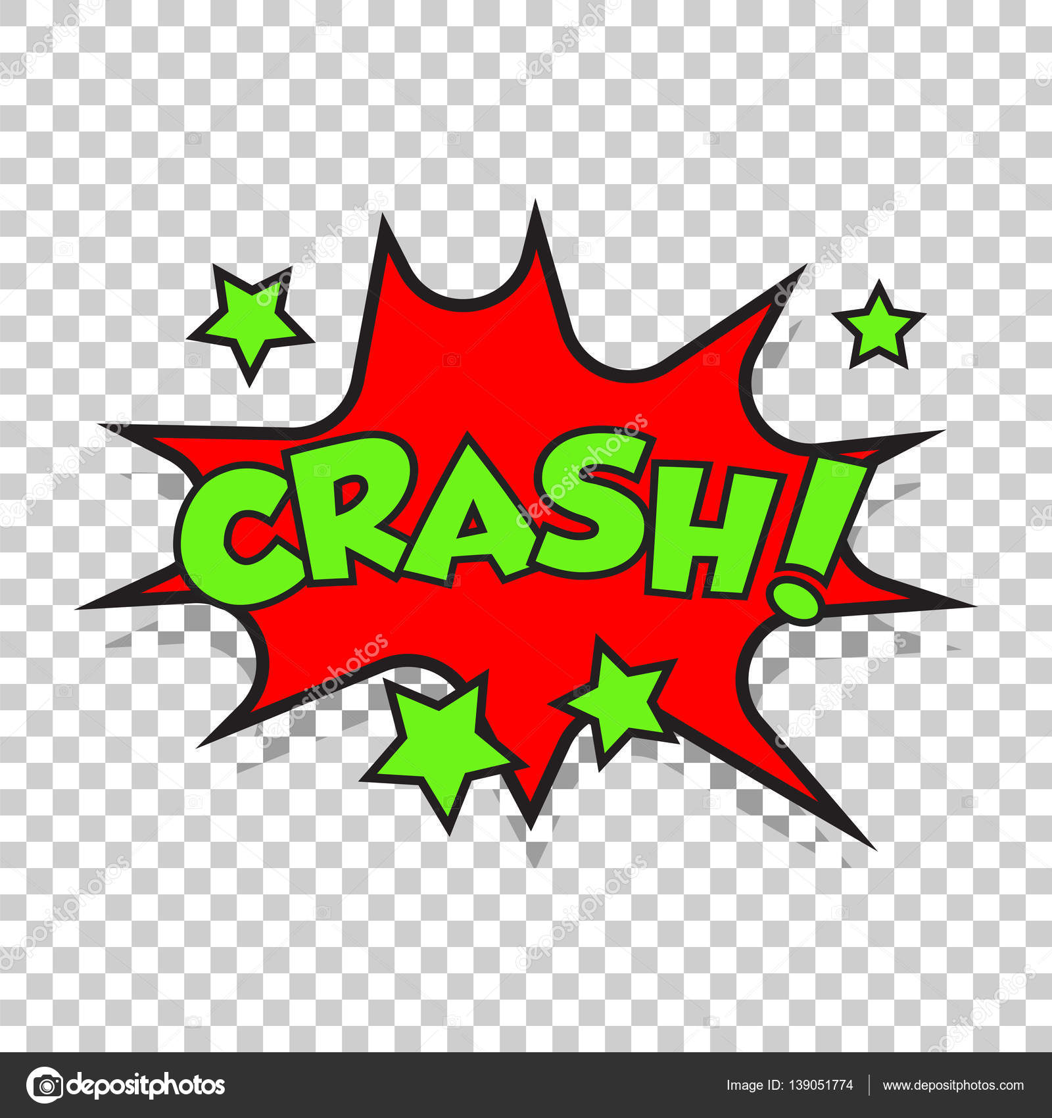 Crash-Comic-Sound-Effekte. Solide Blase Rede mit Wort und Comic ...