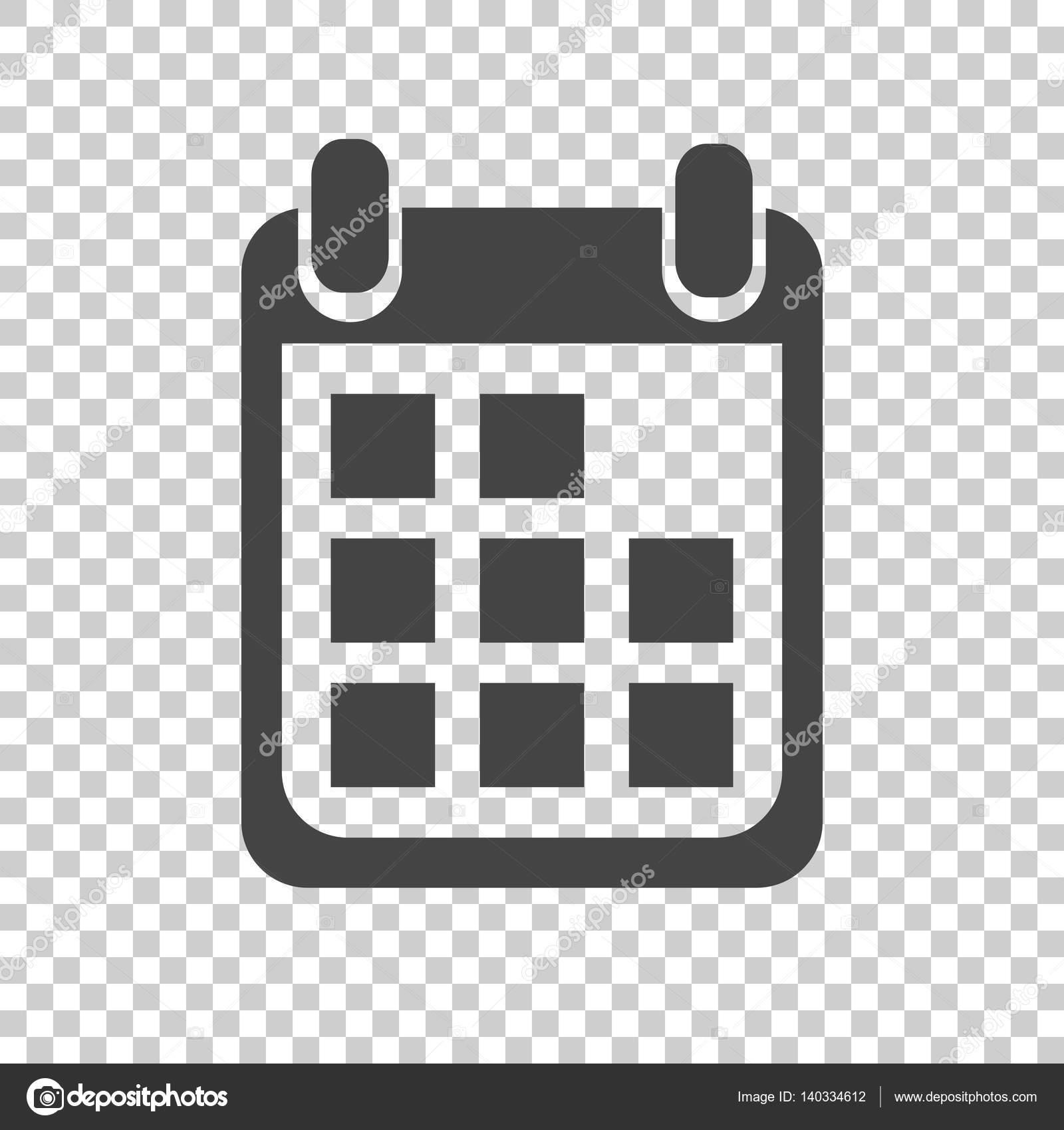 Calendario Per Sito Web.Icona Del Calendario Su Fondo Isolato Illustrazione