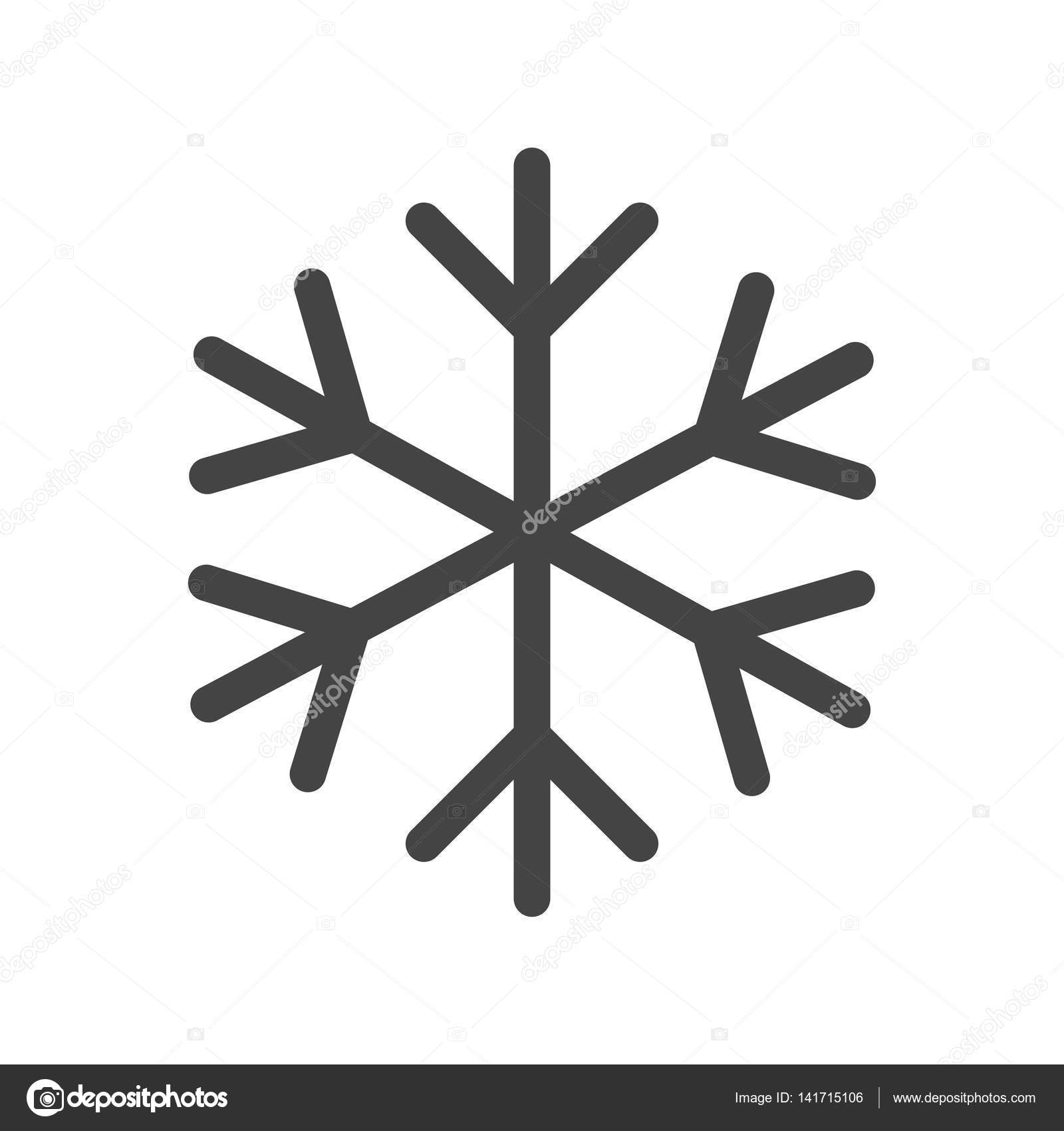 Snowflake icon vector illustration in flat style isolated on white stock illustration snowflake icon vector illustration in flat style isolated on white background winter symbol for web buycottarizona Image collections
