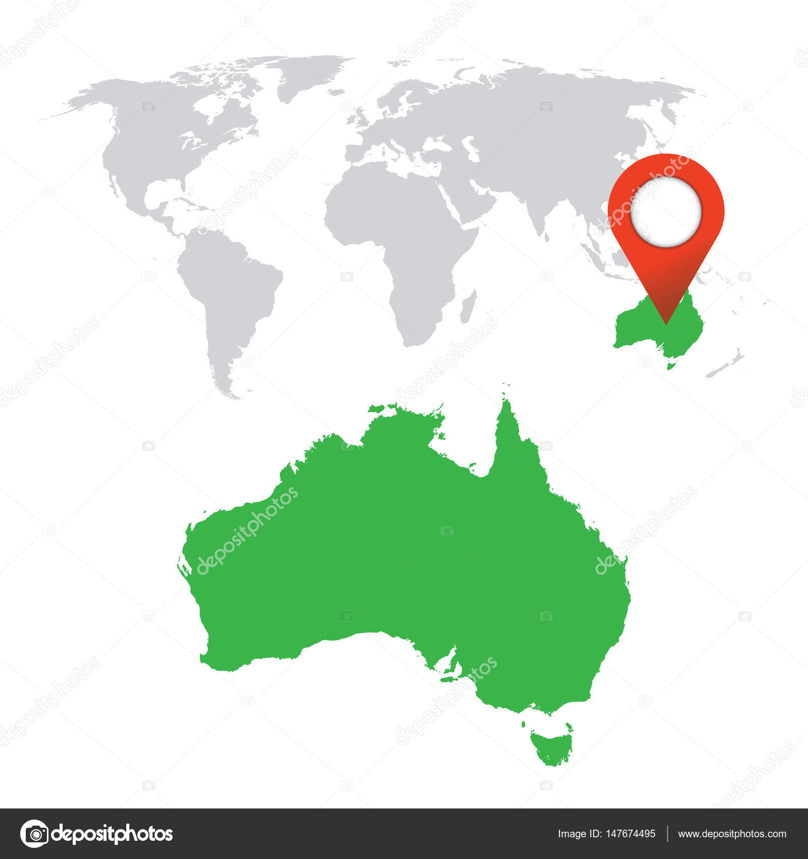 Detailed map of australia and world map navigation set flat vector detailed map of australia and world map navigation set flat vector illustration stock gumiabroncs Gallery