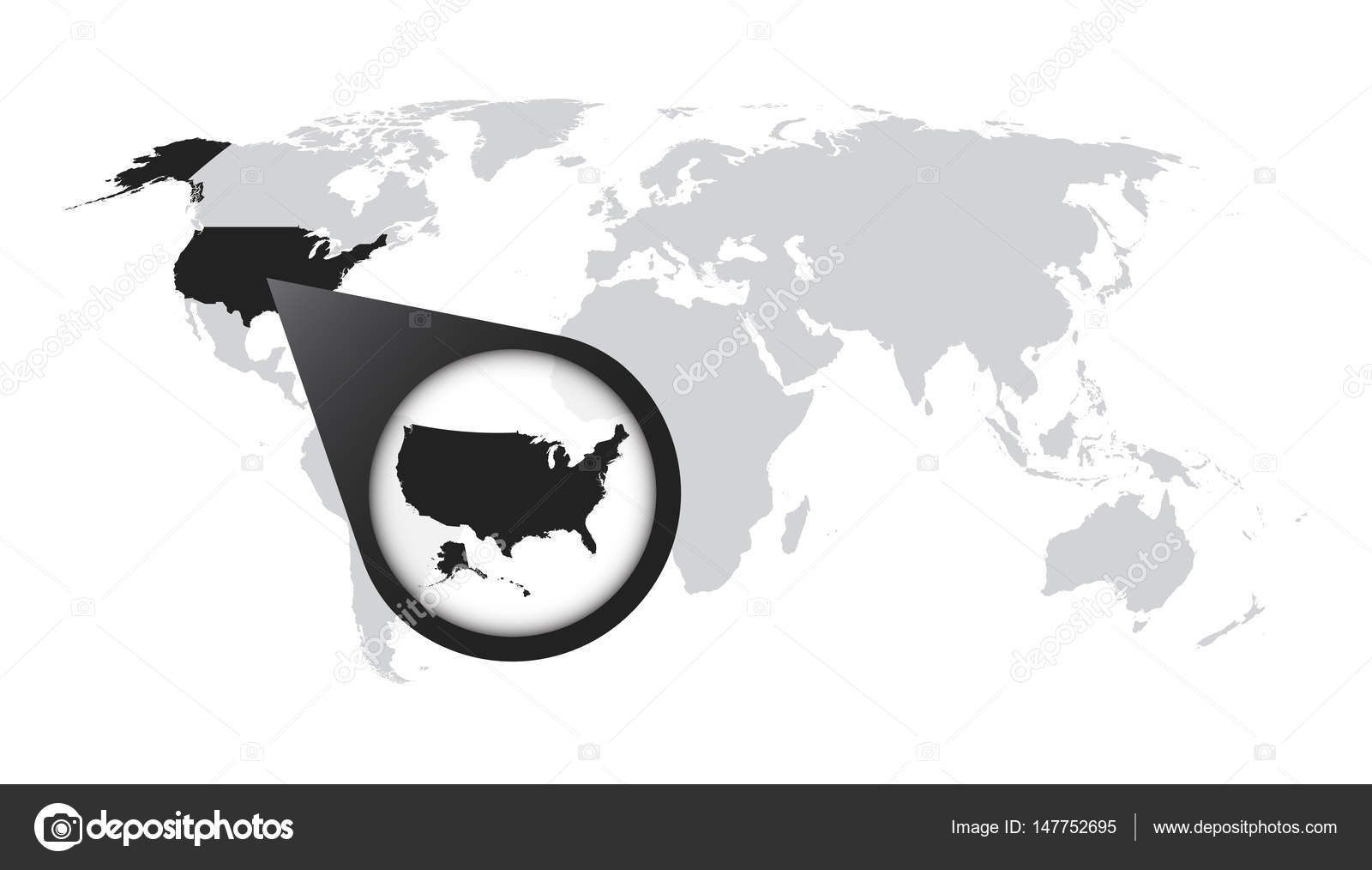 World map with zoom on USA. America map in loupe. Vector ... on map ltd, map measure tool, map snap, map reporter, map widget, map land of the lost, map scaling, map icon library, map of spain la liga teams, map select, map slide, map of europe with names, map watermark, map measure distance, map shelby, map hancock, map layers, map screensaver, map information,