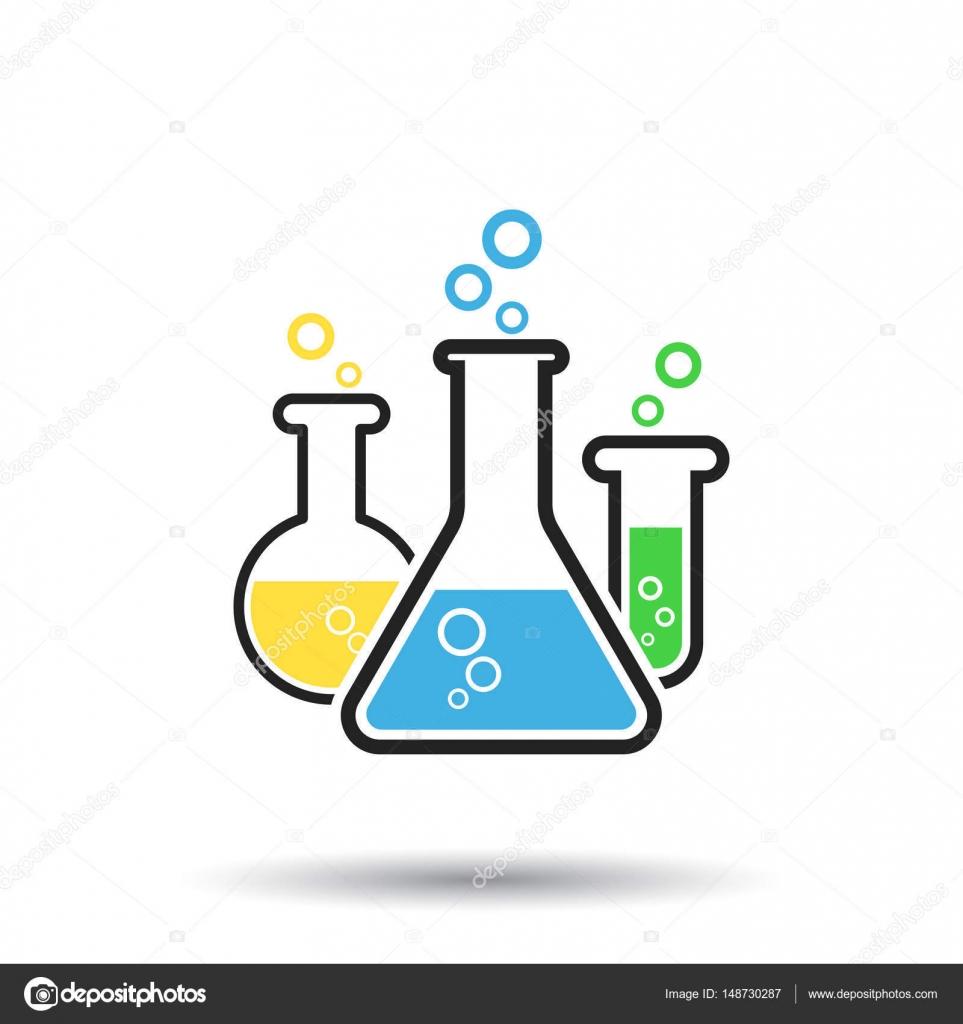 Chemical Test Tube Pictogram Icon Laboratory Glassware Or Beaker