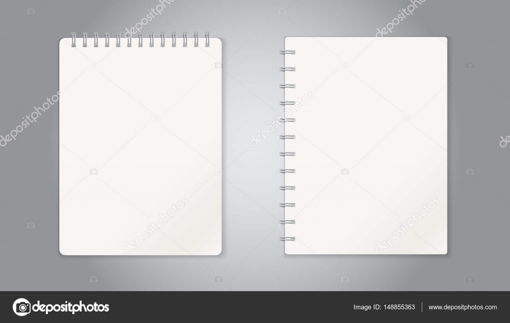 Realistic template notepad with spiral blank cover design school realistic template notepad with spiral blank cover design school business diary office stationery accmission Choice Image