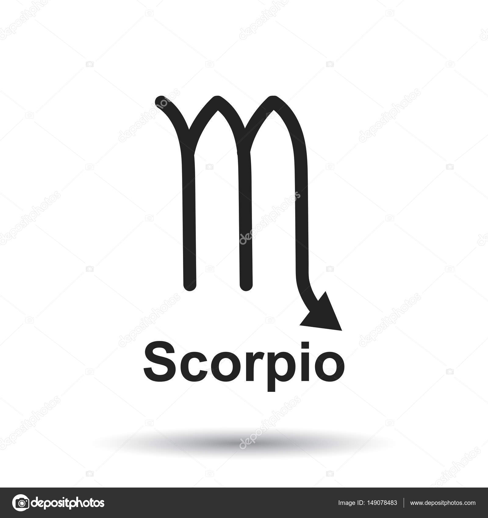 Scorpio zodiac sign flat astrology vector illustration on white scorpio zodiac sign flat astrology vector illustration on white background stock vector biocorpaavc Gallery