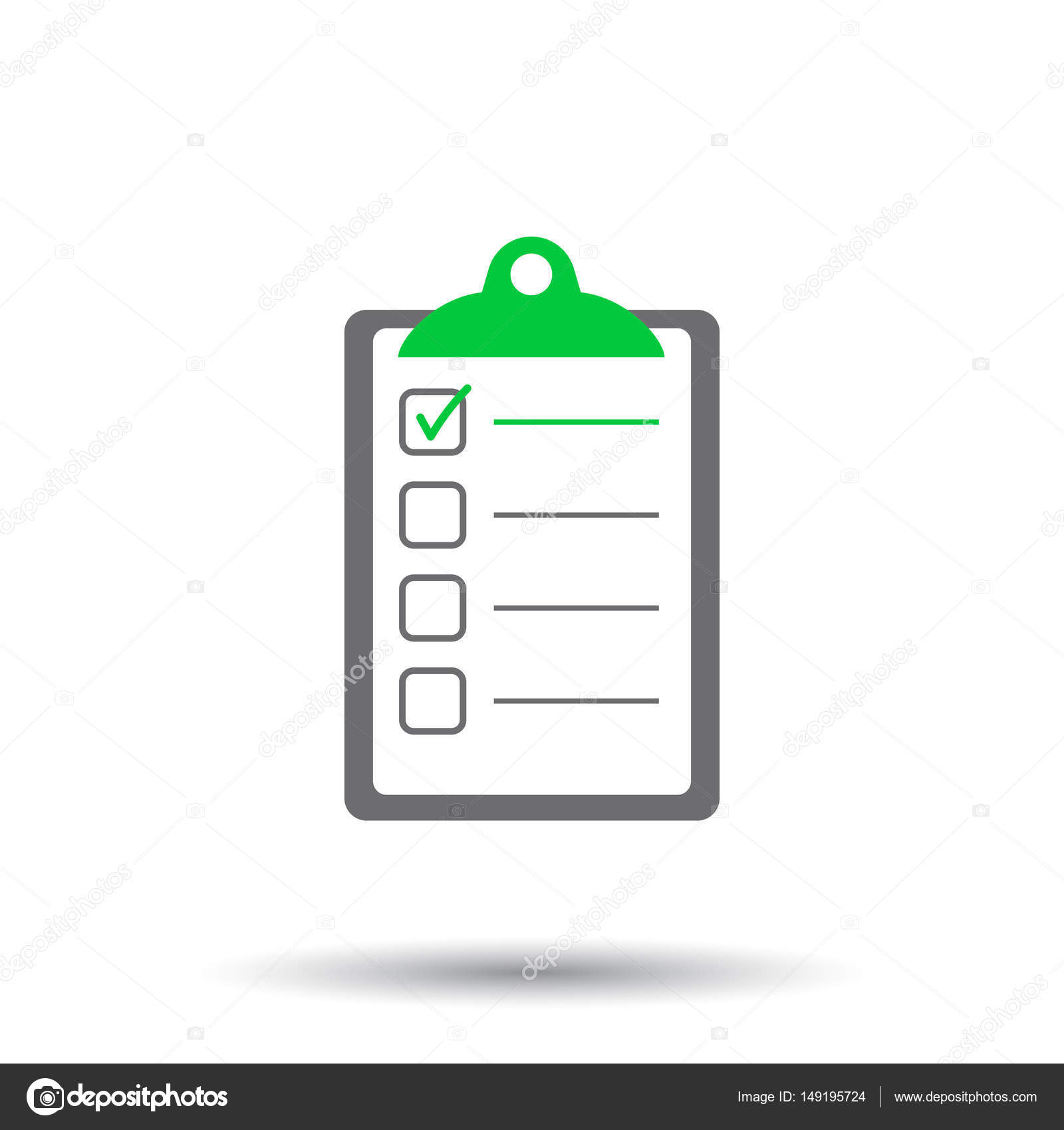 to do list icon checklist task list vector illustration in flat