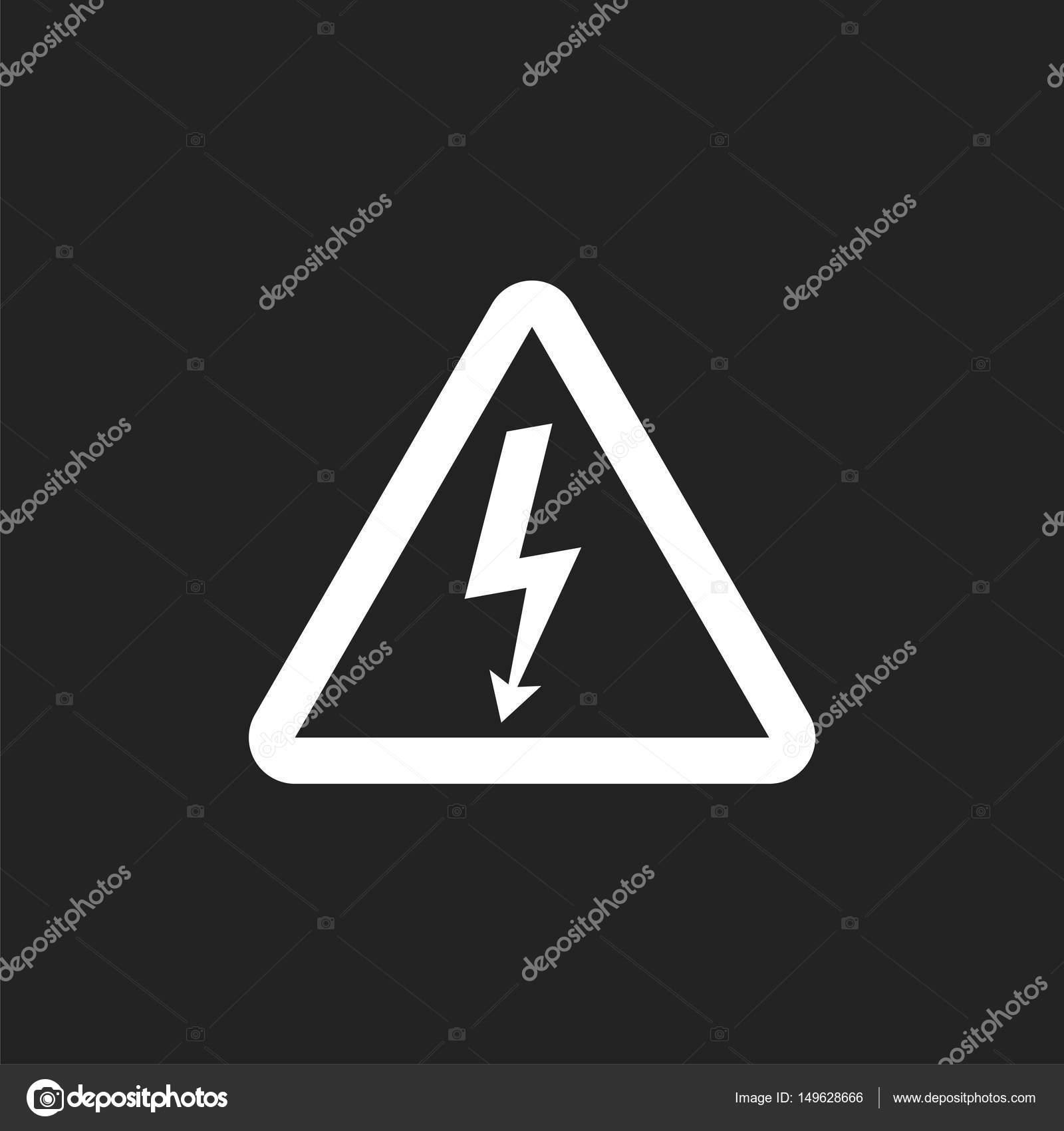 Hohe Spannung Gefahr Zeichen Symbol. Gefahr-Strom-Vektor ...
