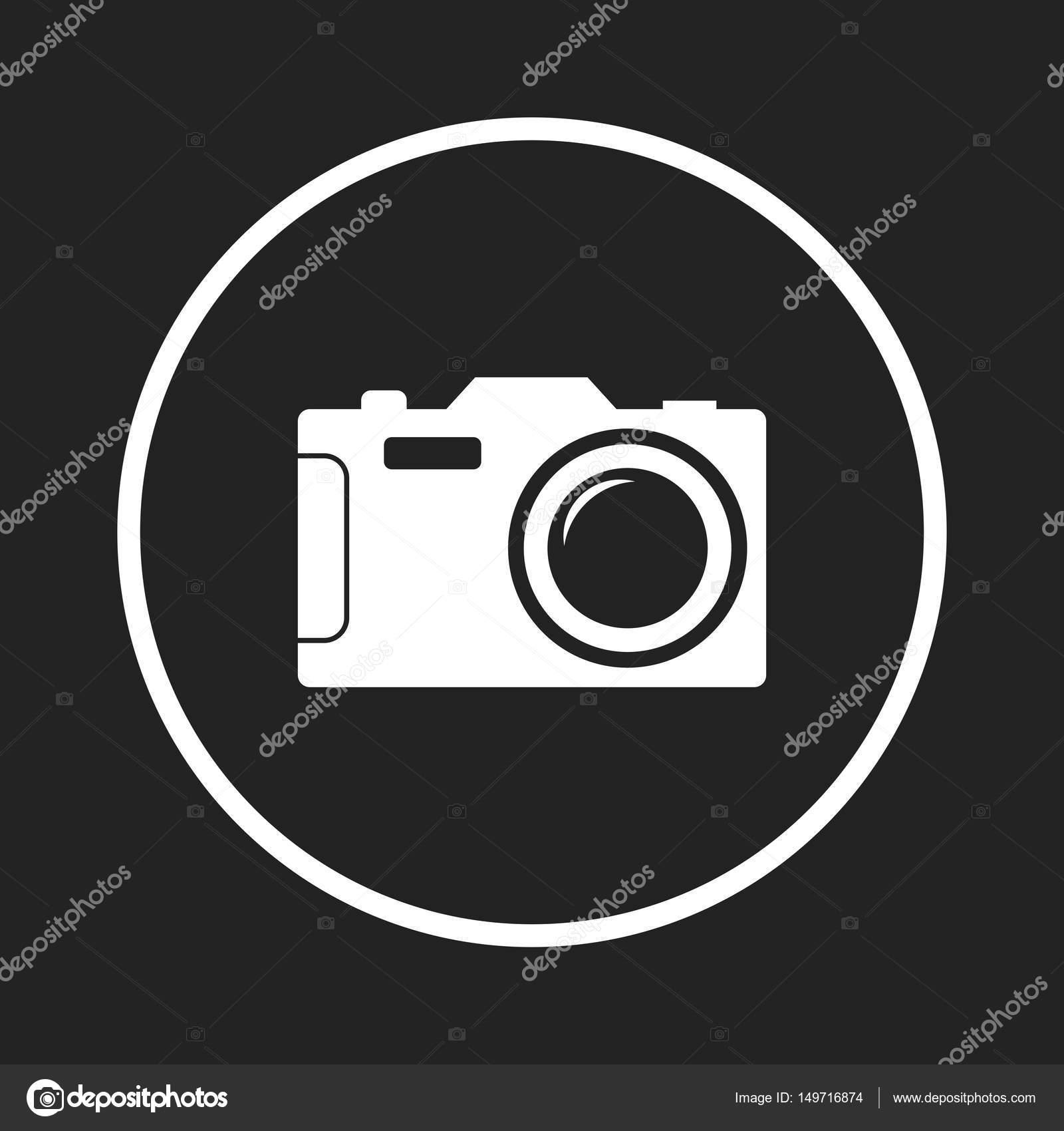 Camera Icon On Black Background Flat Vector Illustration Stock Vector C Sanek13744 149716874