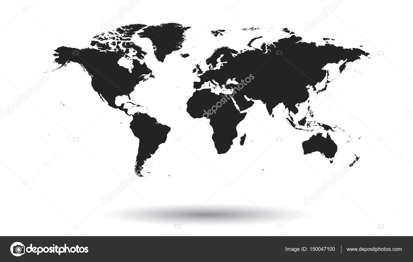 Blank black political world map isolated on white background blank black political world map isolated on white background worldmap vector template for website infographics design flat earth world map illustration gumiabroncs Gallery