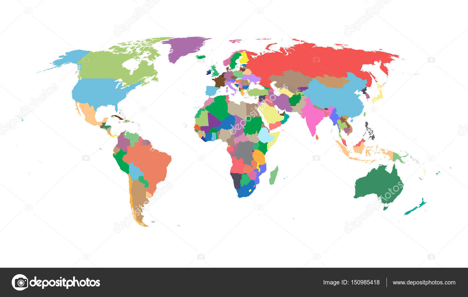 Colorful political world map isolated on white background world map colorful political world map isolated on white background world map vector template for website gumiabroncs Images