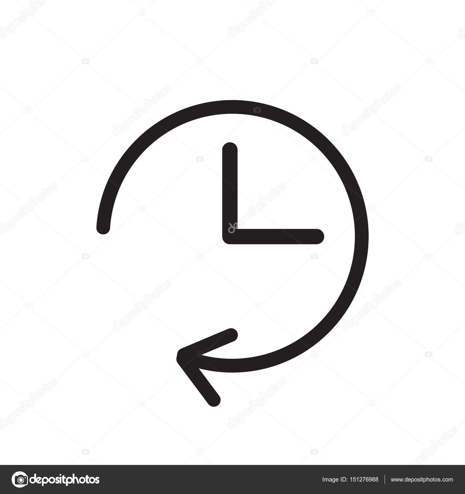 Uhr-Symbol-Darstellung. Flache Vektor Uhr Piktogramm — Stockvektor ...