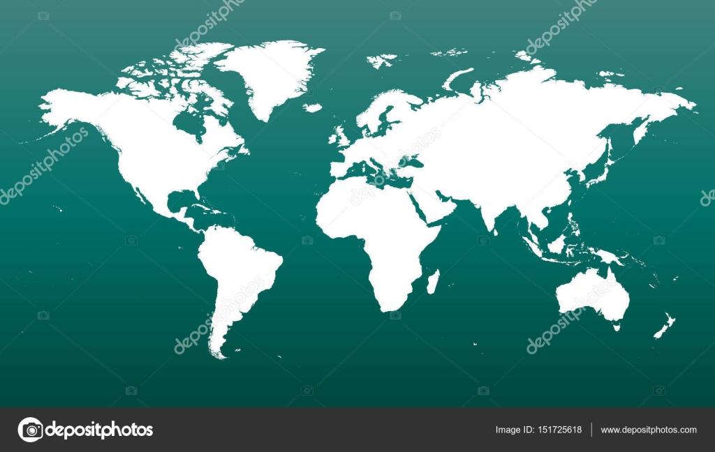 Flache Erde Karte Kaufen.Bunte Politische Weltkarte Auf Grunem Hintergrund Welt