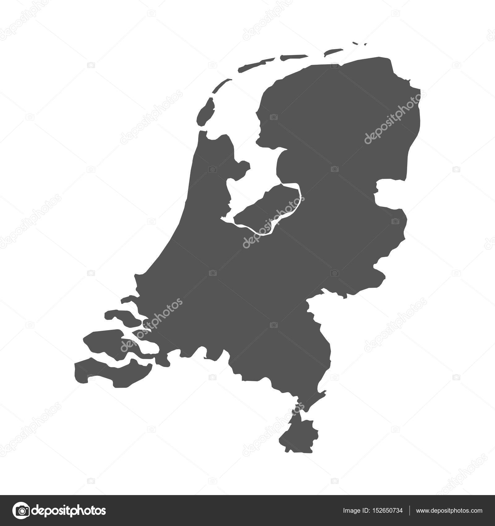 Netherlands vector map black icon on white background stock netherlands vector map black icon on white background stock vector gumiabroncs Images