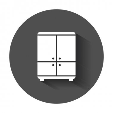 Cupboard icon. Modern flat pictogram for business, marketing, internet. Simple flat vector symbol with long shadow.