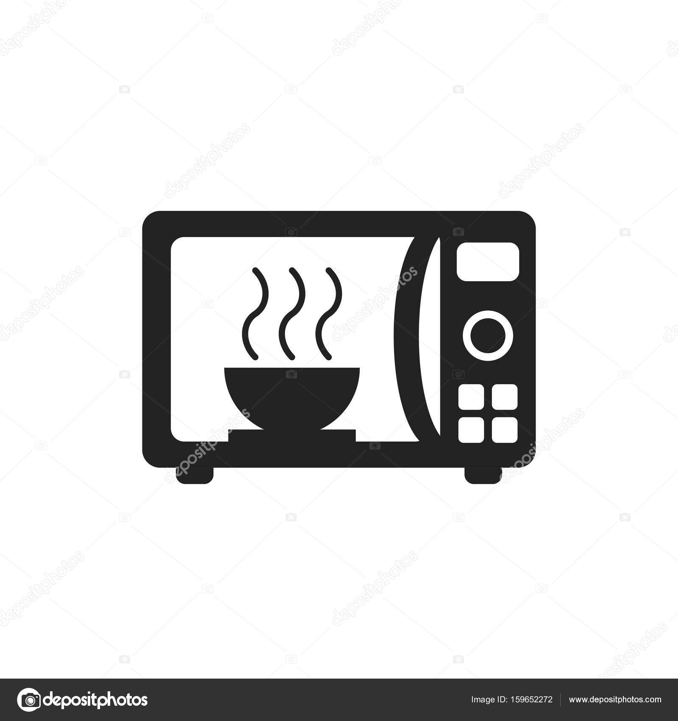 icona di vettore piatto del forno a microonde forno a microonde simbolo logo illustrat. Black Bedroom Furniture Sets. Home Design Ideas