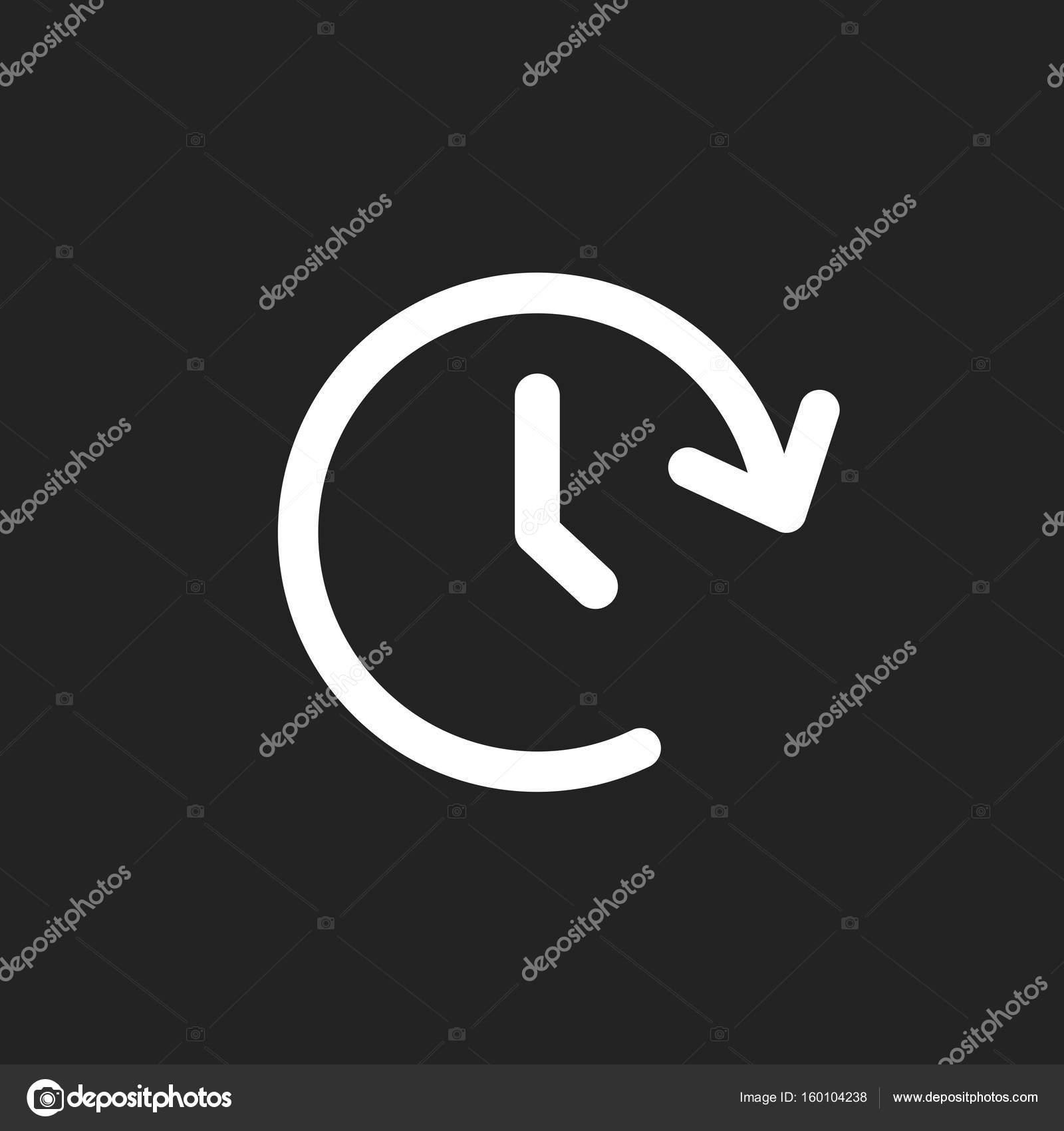 Tome Vektor Uhrensymbol. Zeitschaltuhr 24 Stunden Zeichen Abbildung ...
