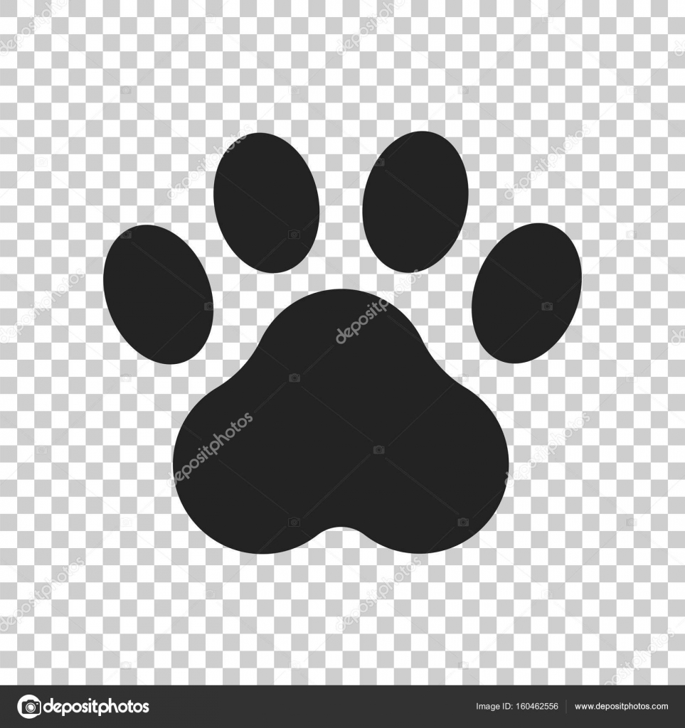 Paw Print Vector Pictogram Hond Of Kat Pawprint Illustratie Dier