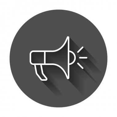 Megaphone flat vector icon. Bullhorn symbol logo illustration on