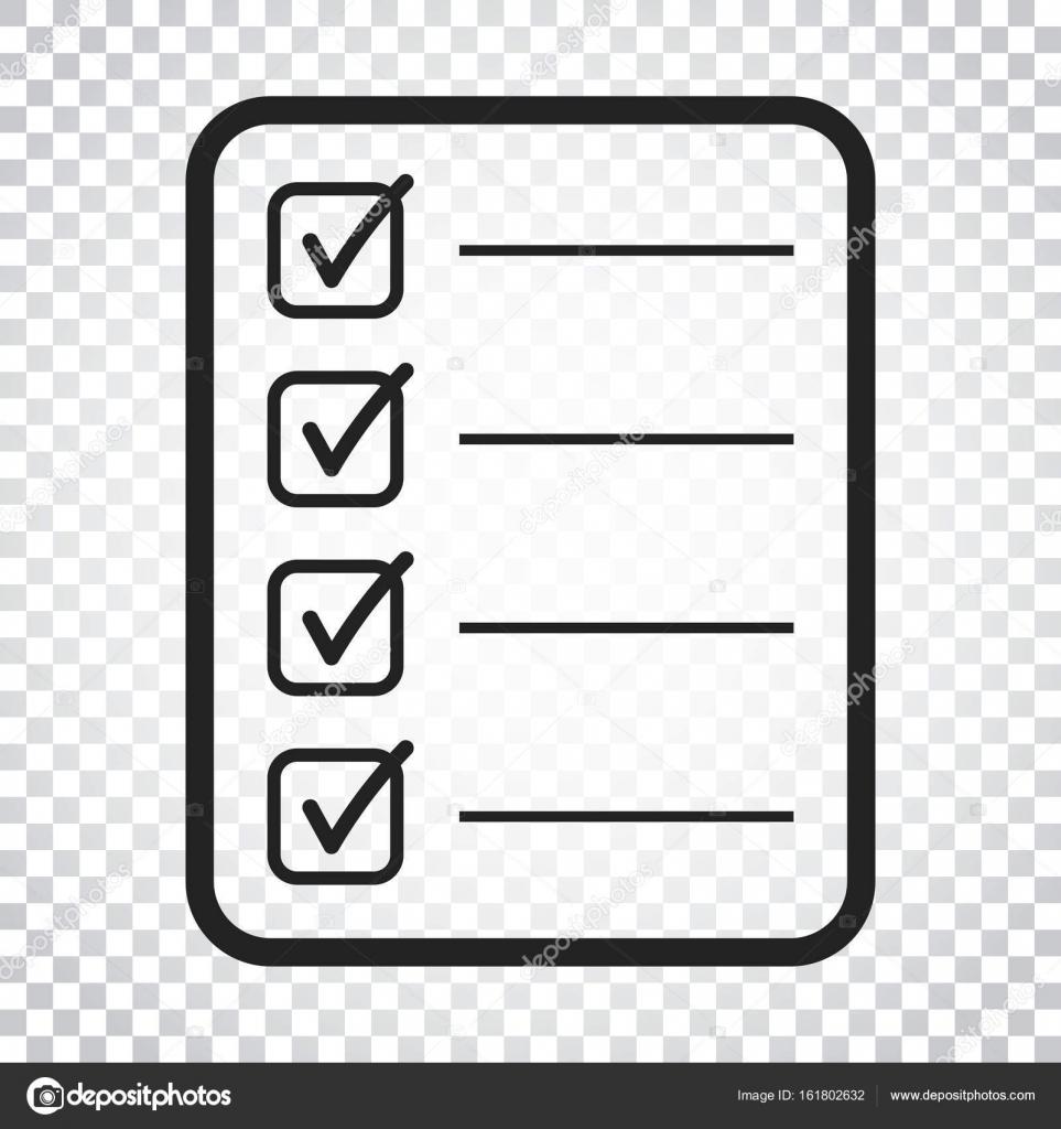 Para hacer la lista icono. Lista de verificación, Ilustración de ...