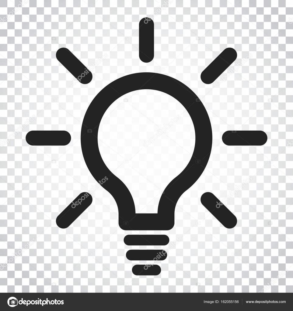 Glühbirne Linie Symbol Vektor. Elektrische Lampe in flachen Stil ...