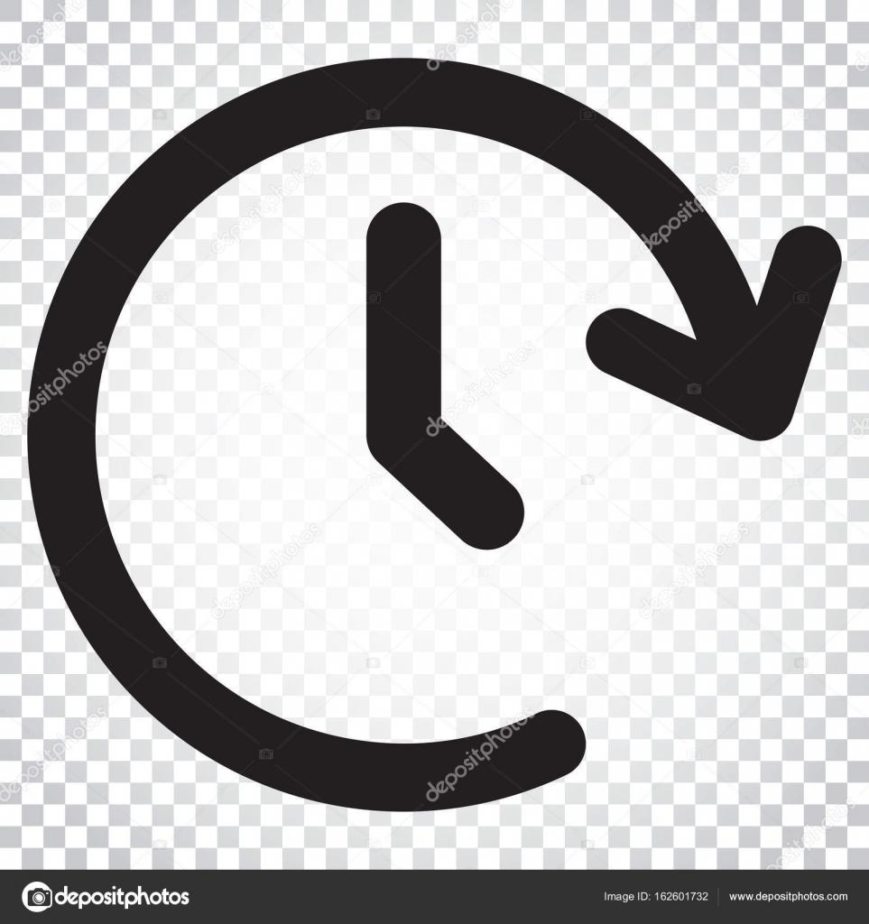Uhr-Zeit-Vektor-Symbol. Zeitschaltuhr 24 Stunden Zeichen Darstellung ...