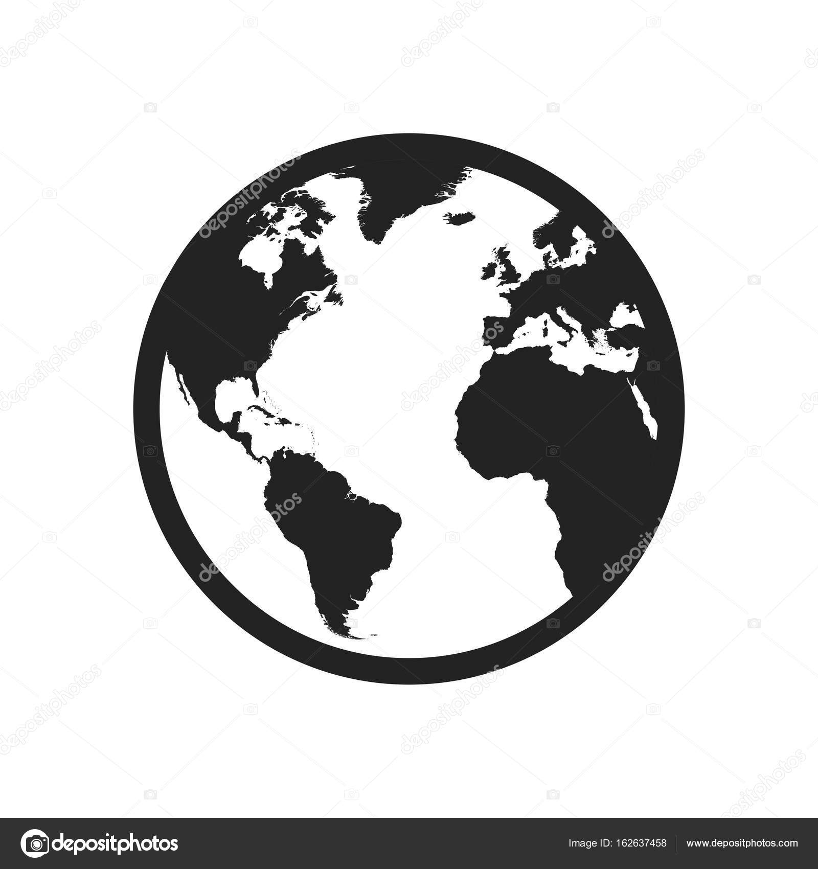 Globe world map vector icon round earth flat vector illustratio globe world map vector icon round earth flat vector illustratio stock vector gumiabroncs Image collections