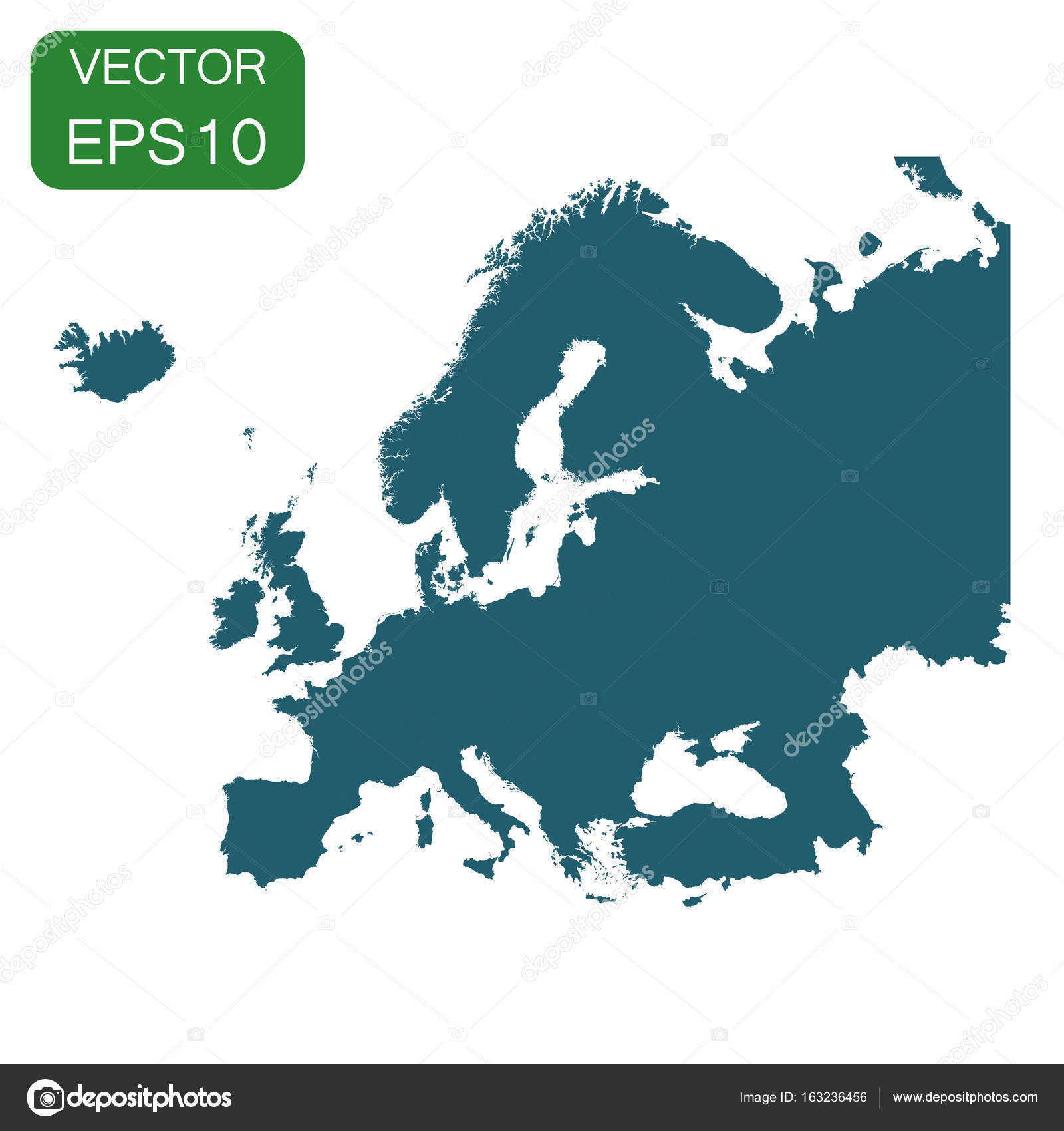 Europe map icon. Business cartography concept Europe ...