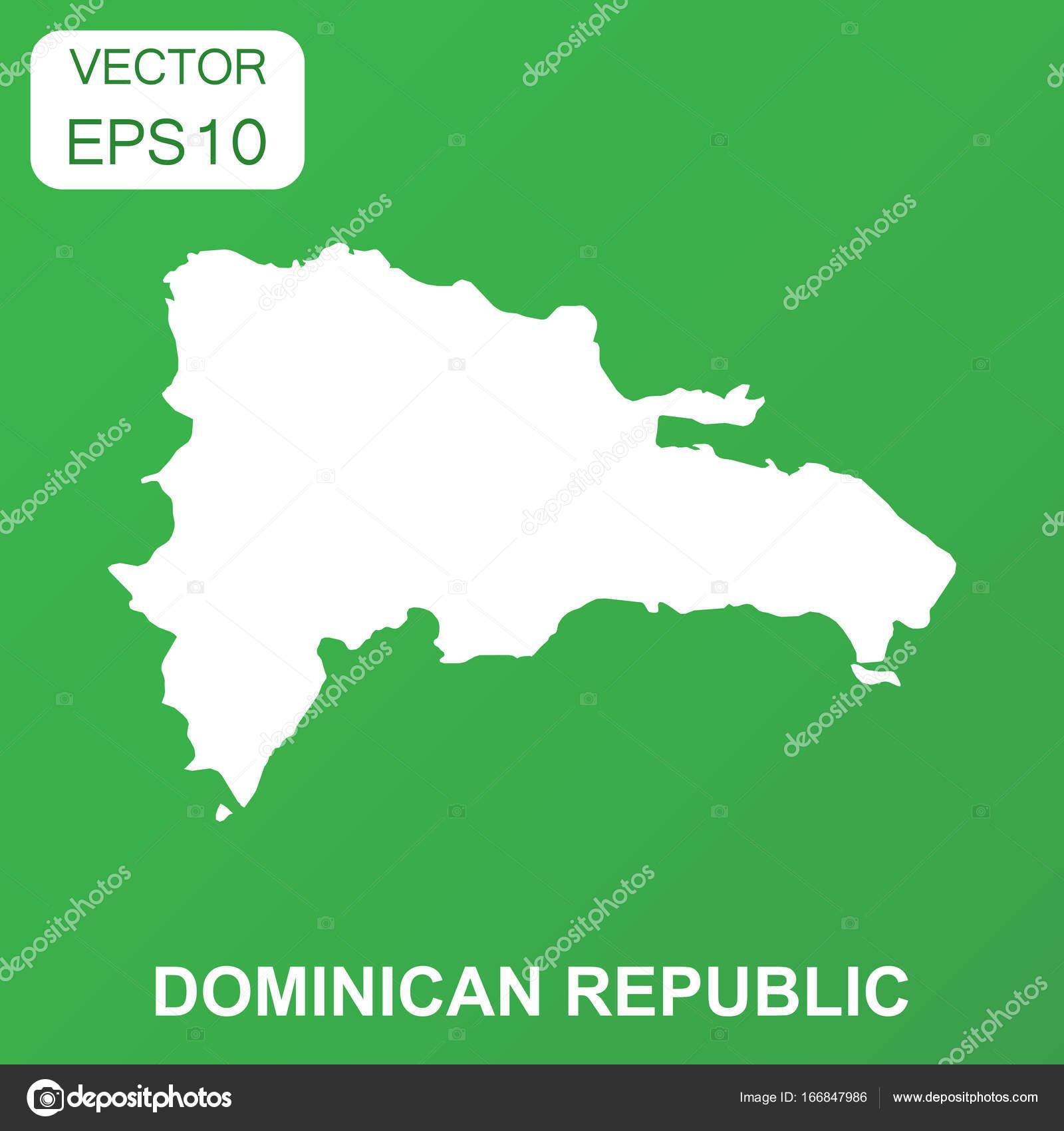Dominikanische Republik Karte Symbol Geschäftskonzept