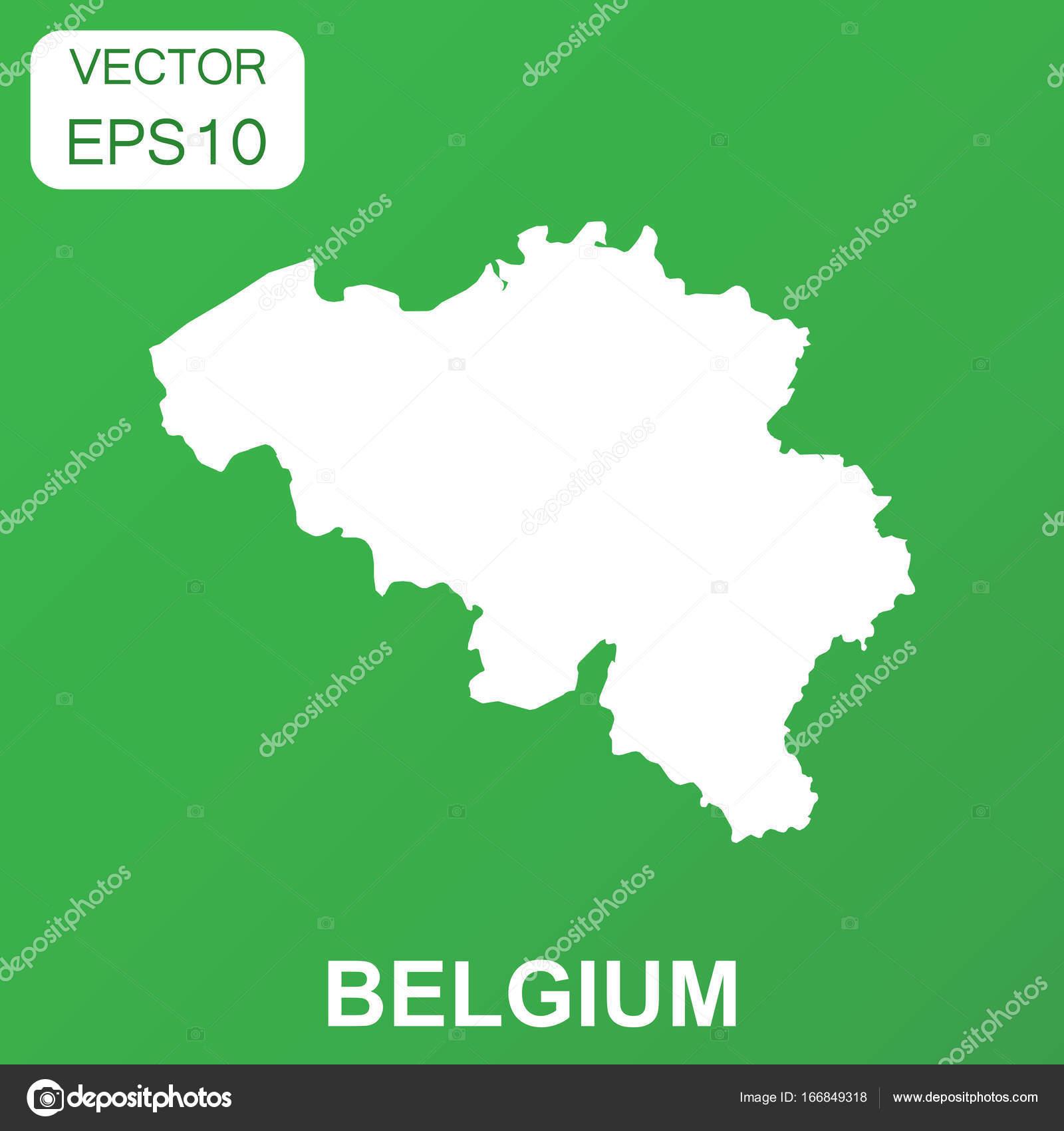Carte Belgique Eps.Icone De Carte De Belgique Pictogramme Business Concept