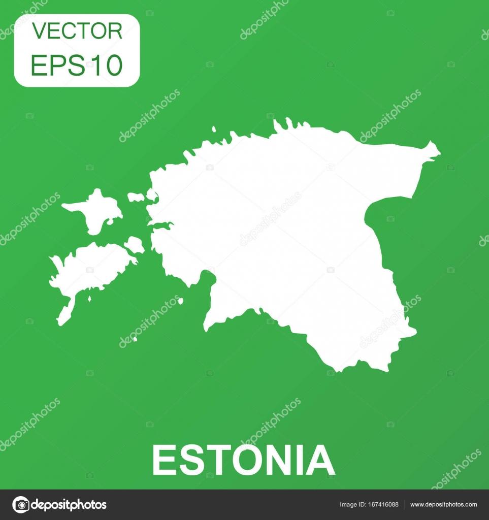 Estonia Map Icon Business Concept Estonia Pictogram Vector Ill - Estonia map download