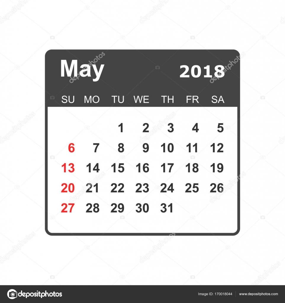 may 2018 calendar calendar planner design template week starts