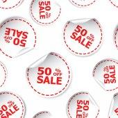 Prodej 50 % procent nálepka vzor bezešvé pozadí ikonu. B