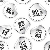 Sale 60% percent off sticker seamless pattern background icon. B