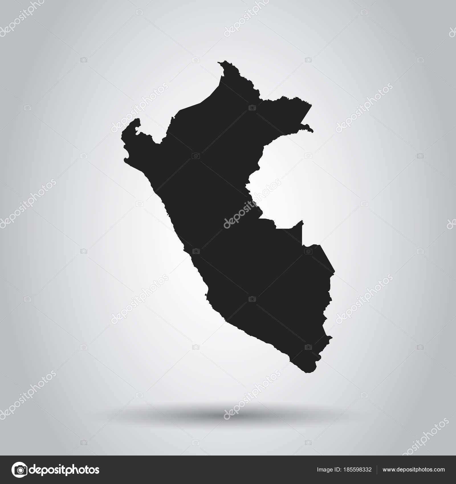 Peru vector map black icon on white background stock vector peru vector map black icon on white background stock vector gumiabroncs Image collections