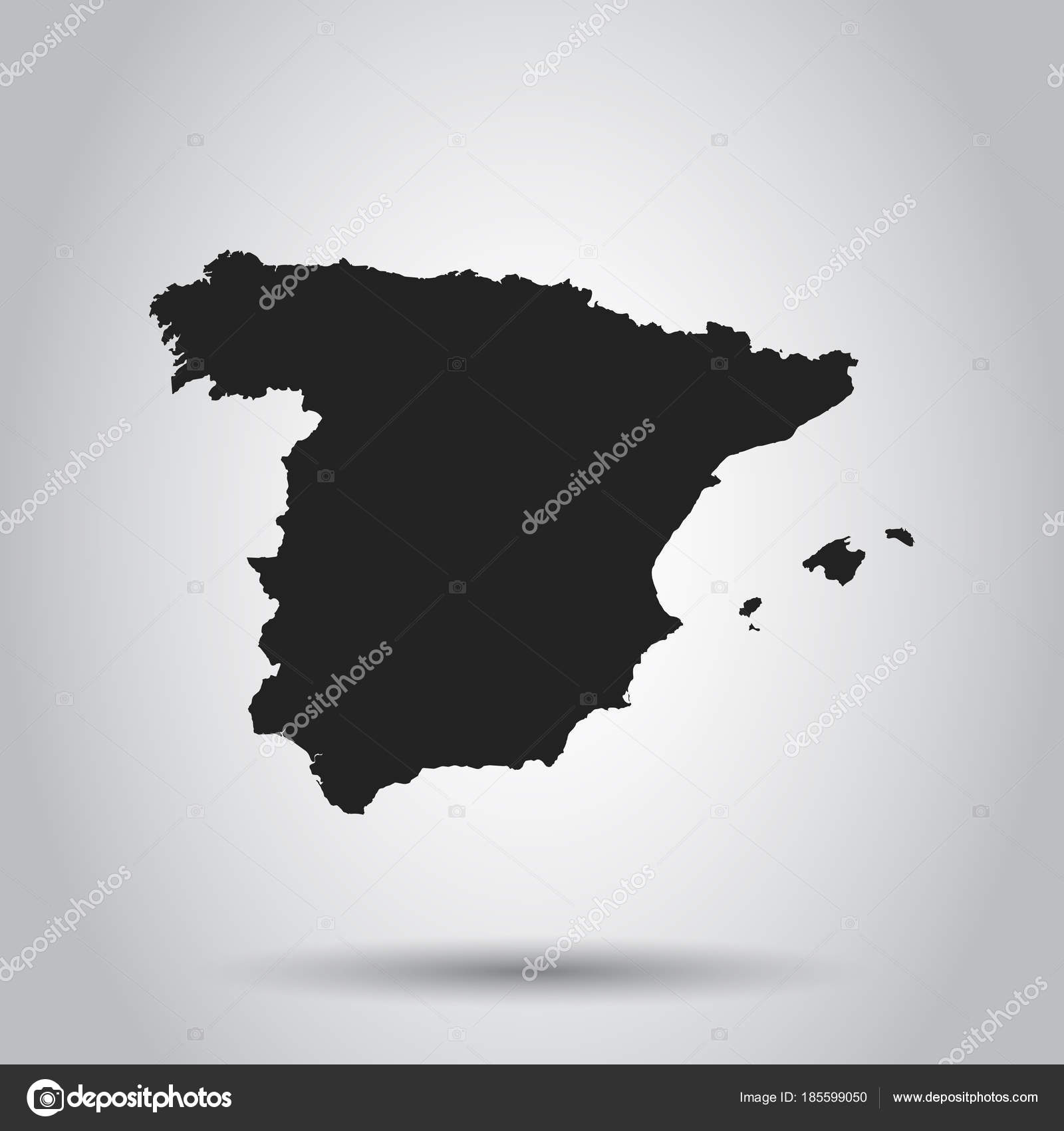 Spain vector map black icon on white background stock vector spain vector map black icon on white background stock vector gumiabroncs Image collections