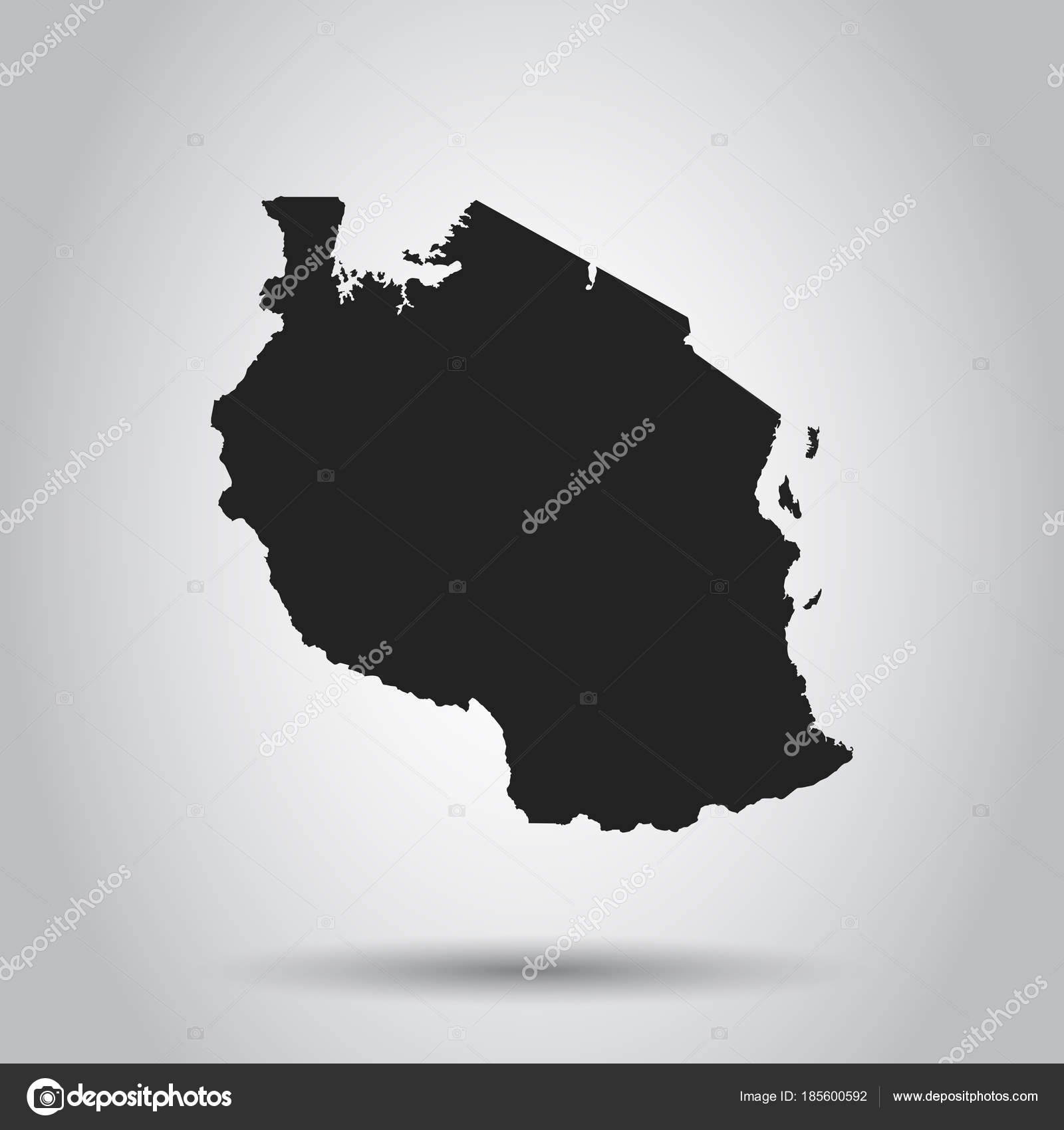 Tanzania vector map black icon on white background stock vector tanzania vector map black icon on white background stock vector gumiabroncs Image collections