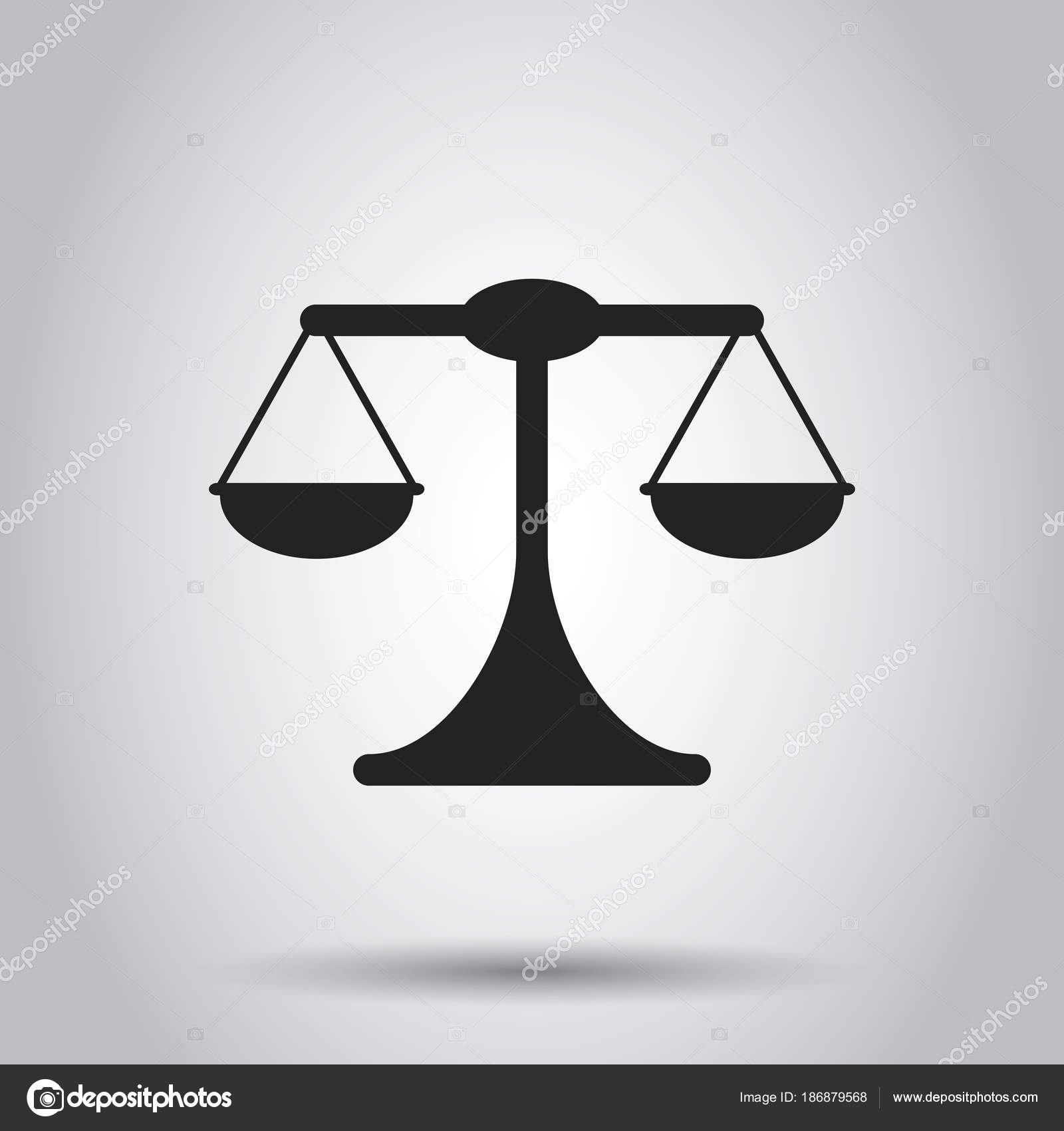 Waage Waage Vektor Icon. Waage, Gleichgewicht Zeichen Abbildung. B ...