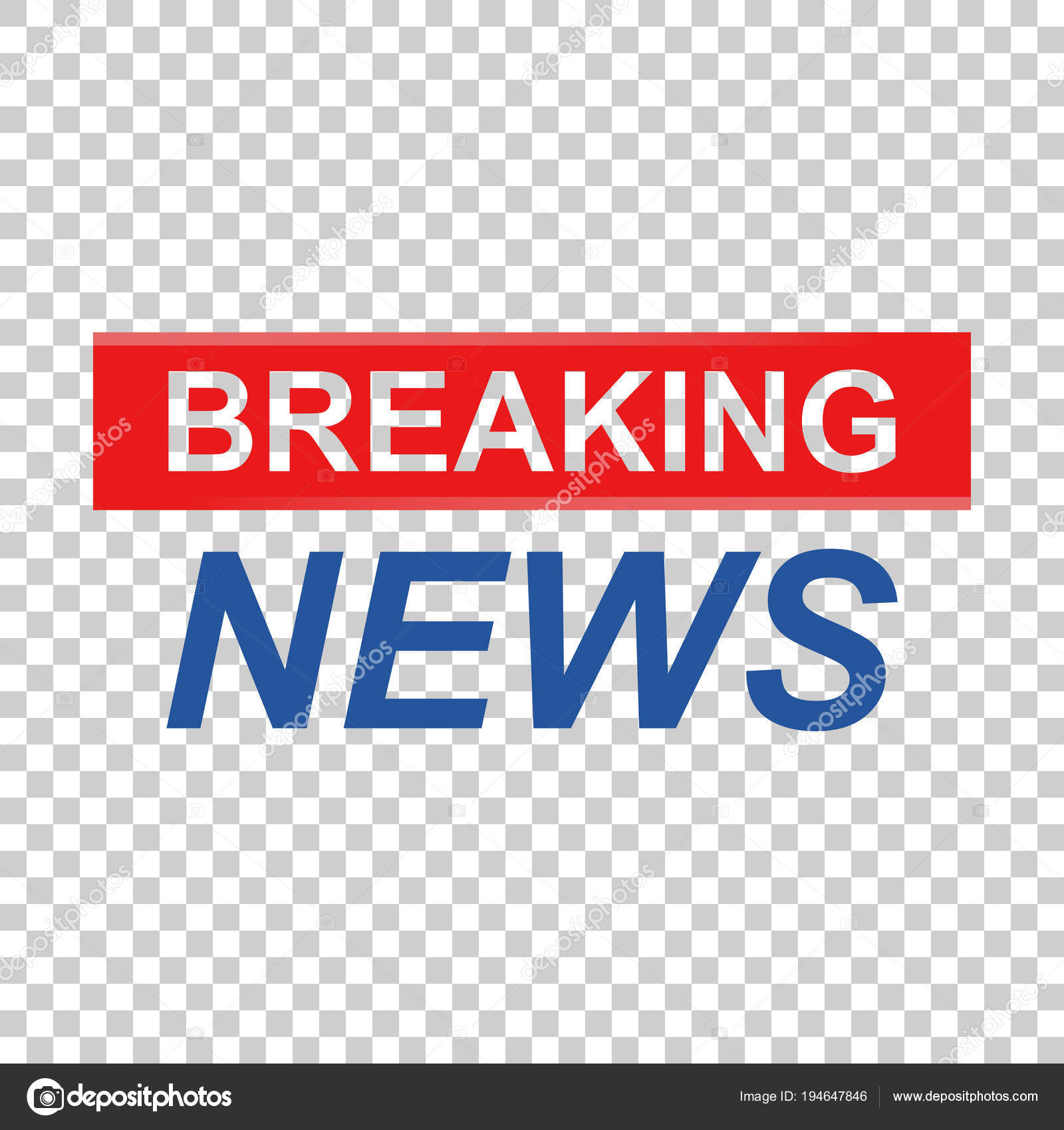 Breaking news vector icon  News flat vector illustration  Commun