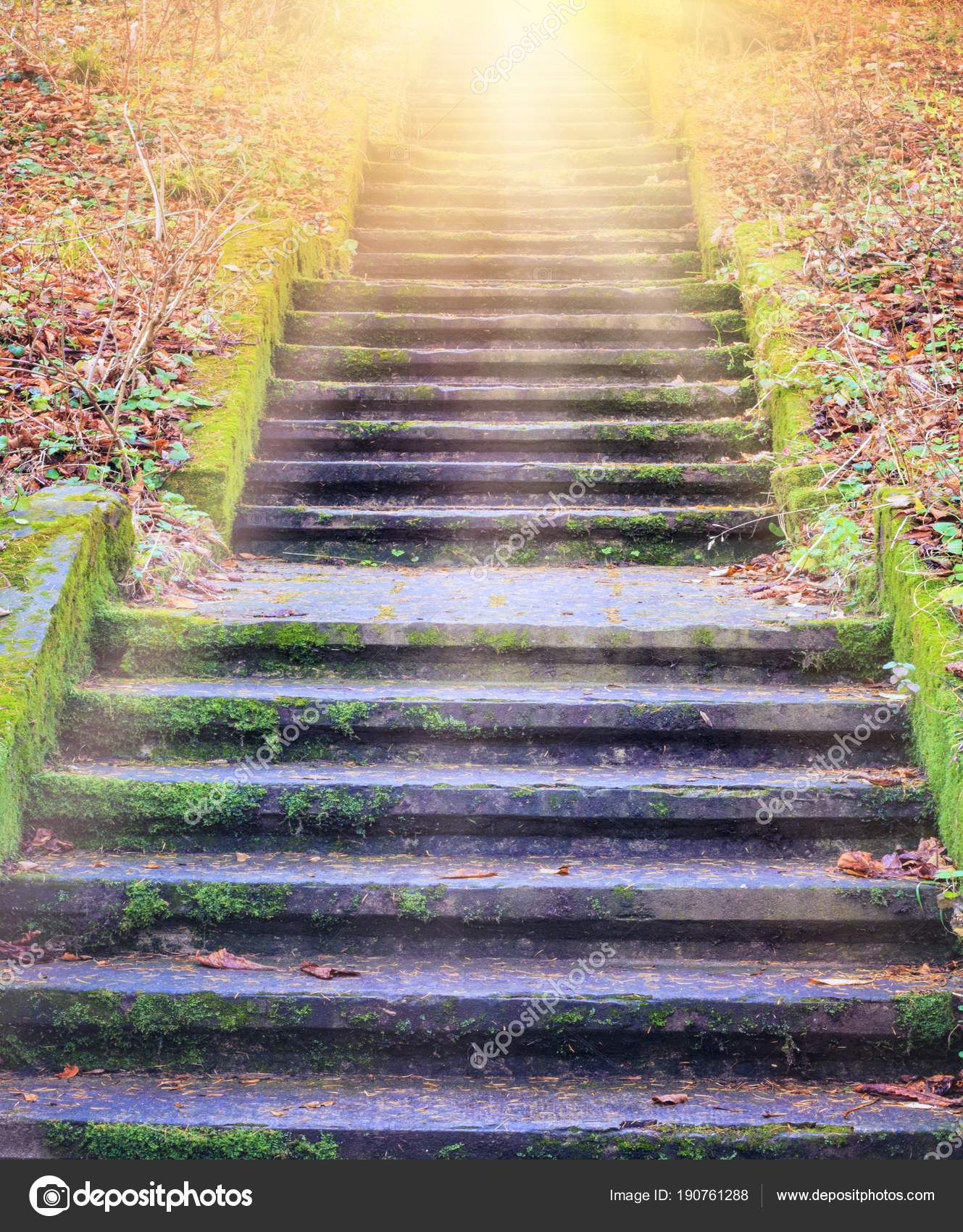 Steps Leading Sun Way God Bright Light Heaven Religious