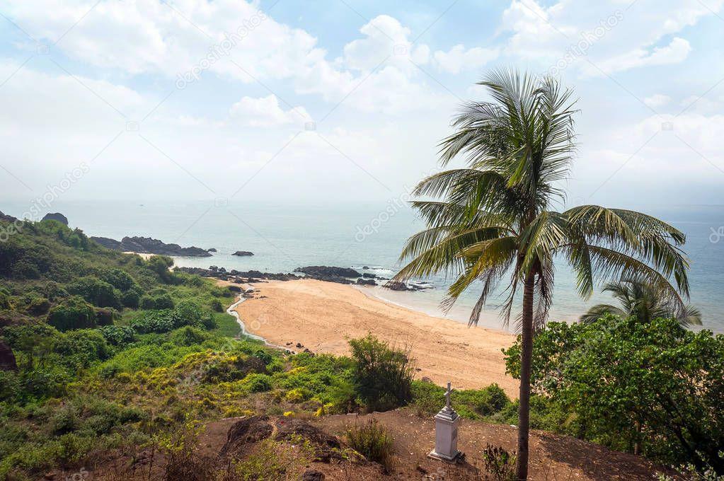Goa beach Vasco da Gama. Goa, India.