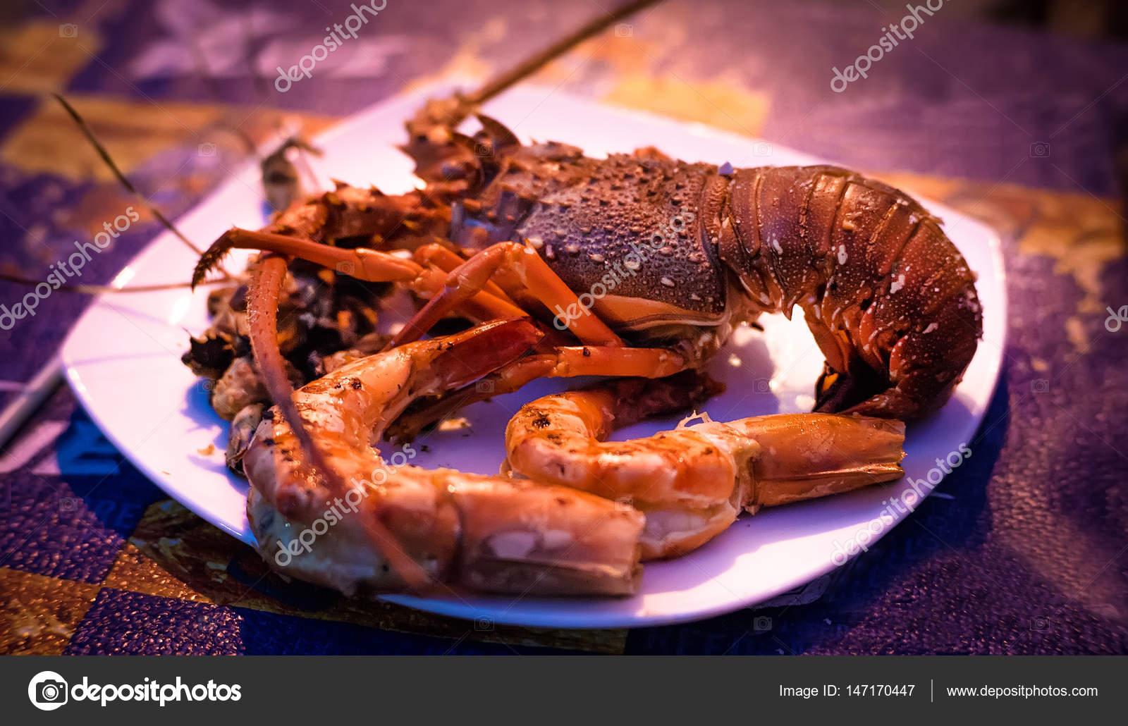 Bir okyanus gurme akşam yemeği arka plan olarak kabuklu deniz ürünleri  tabağı ile taze ıstakoz 1b06ab9a84