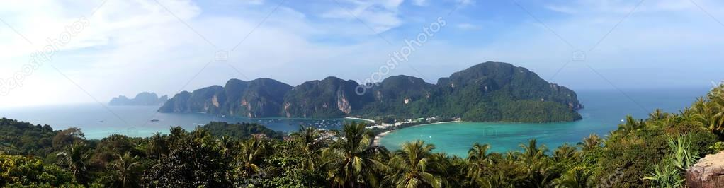 Panorama of Phi-Phi island, Krabi Province