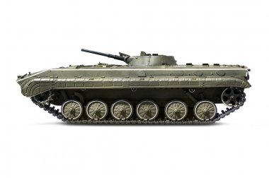 Russian infantry light tank BMP-2 with clipping path