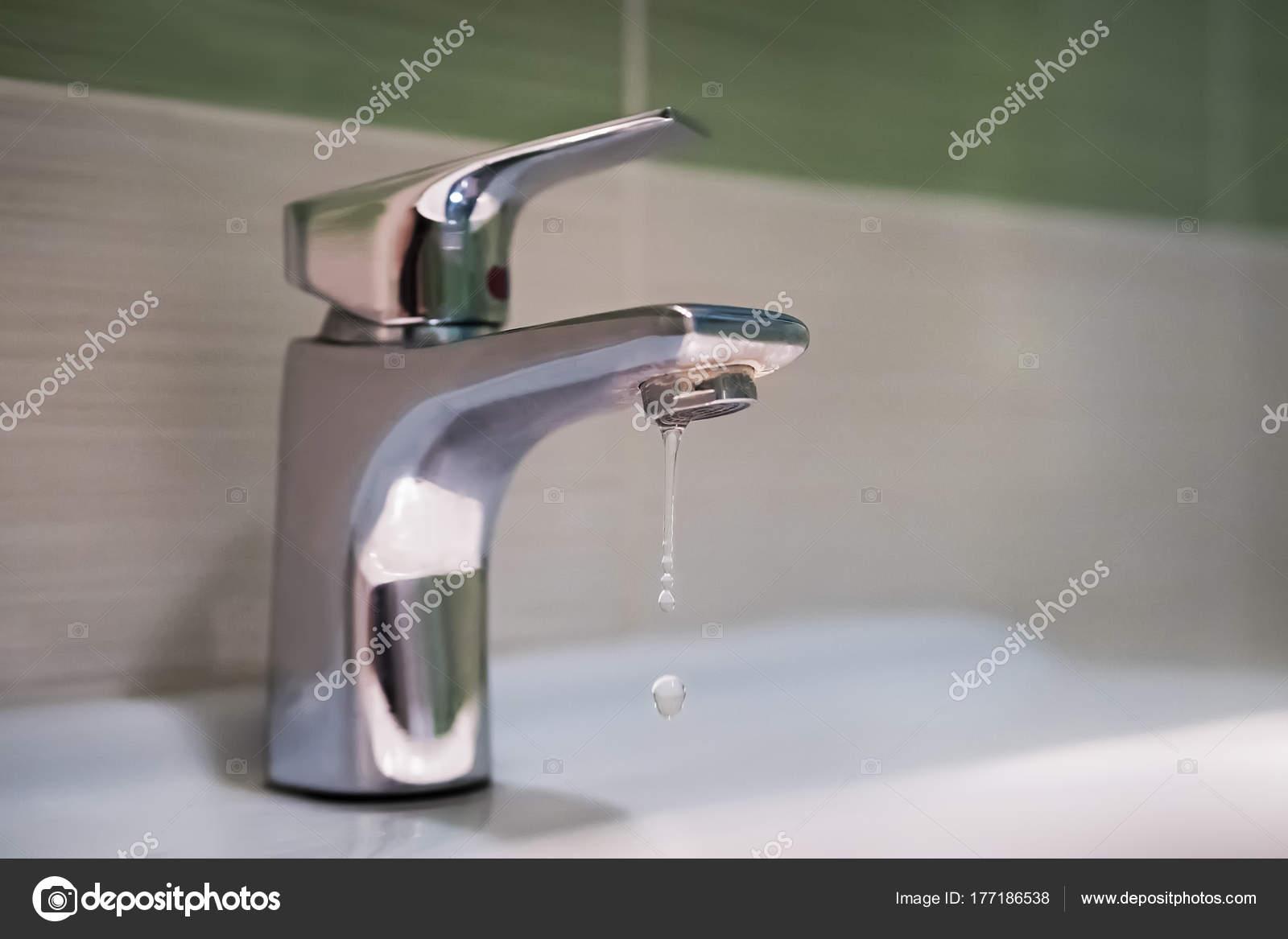 Traditional silver tap dripping — Stock Photo © diy13@ya.ru #177186538