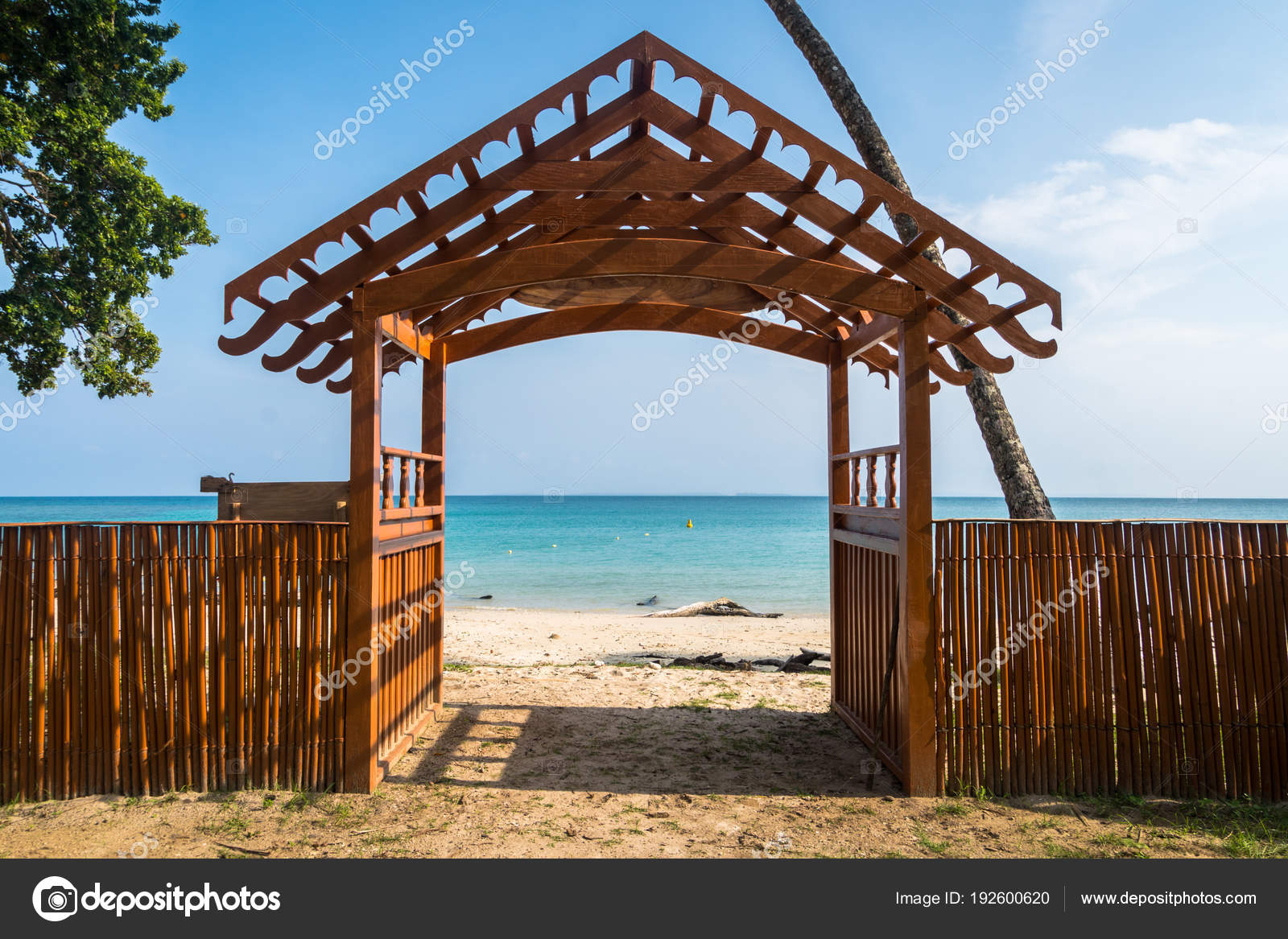 Open Gate To The Sea Without People A Symbol Of Infinity Stock