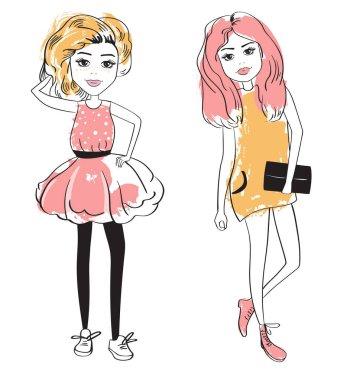 Summer fashion girls.