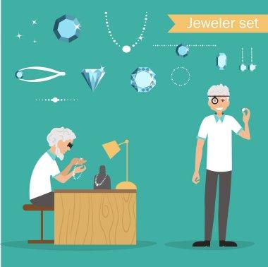 Cartoon jeweler profession